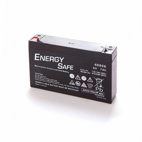 BATTERIA AL PIOMBO ENERGY SAFE 6V 7AH
