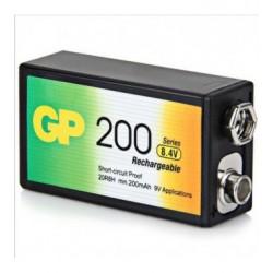 BATTERIA GP FORMATO 9V NI-MH 200MAH