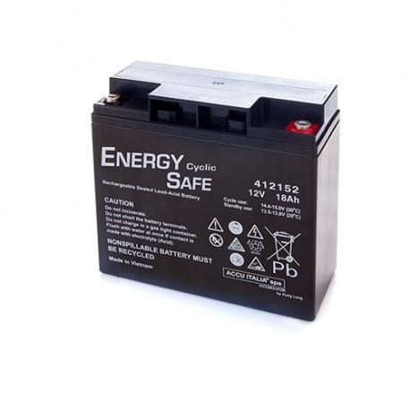 BATTERIA AL PIOMBO ENERGY SAFE 12V 18AH CICLICA