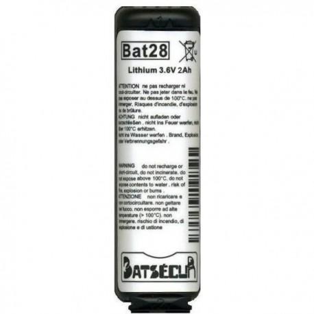 BAT28 BATTERIA PER ANTIFURTO LITIO 3,6V 2AH BATSECUR