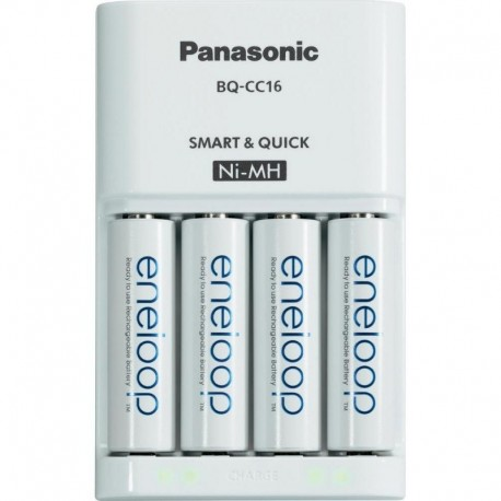 CARICABATTERIE PANASONIC ENELOOP BQ-CC16 INCLUSE 4 AA 2000MAH