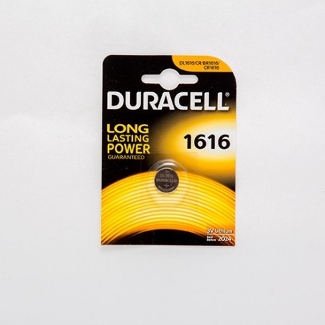 PILA AL LITIO BOTTONE DURACELL 3V FORMATO CR1616