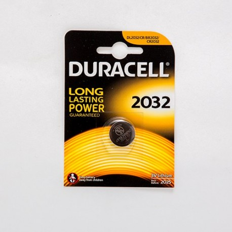 PILA AL LITIO BOTTONE DURACELL 3V FORMATO CR2032