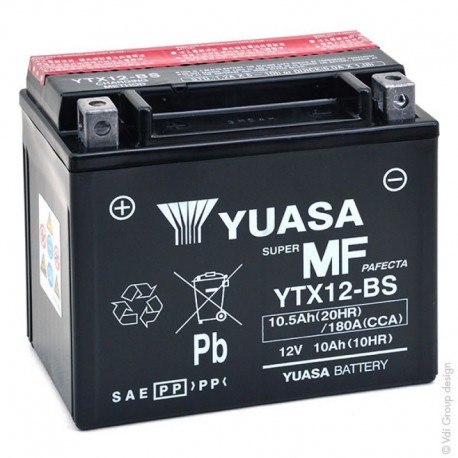 BATTERIA MOTO YUASA YTX12-BS