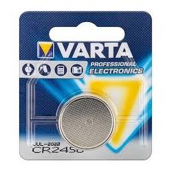 PILA AL LITIO BOTTONE VARTA 3V FORMATO CR2450